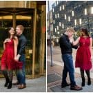 Chandler and John - Engagement Session at Point State Park and Downtown